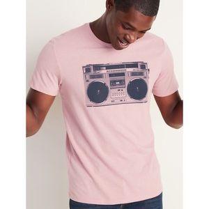 Old Navy Shirts - 🎉HP🎉 Pink Boom Box T-Shirt Unisex